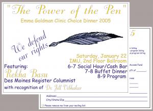 2005 Choice Dinner Invitation