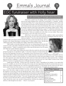 Summer 2004 Newsletter for the Women's Health Project